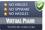 Virtual Piano is free of viruses and malware.