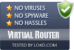 Virtual Router is free of viruses and malware.