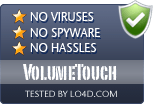 VolumeTouch is free of viruses and malware.