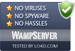 WampServer is free of viruses and malware.