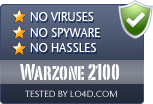 Warzone 2100 is free of viruses and malware.