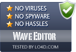 Wave Editor is free of viruses and malware.