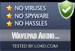 Wavepad Audio Editor is free of viruses and malware.