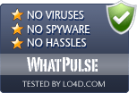 WhatPulse is free of viruses and malware.