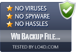 Wii Backup File System Manager is free of viruses and malware.