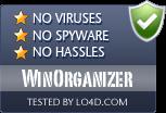 WinOrganizer is free of viruses and malware.