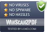 WinScan2PDF is free of viruses and malware.