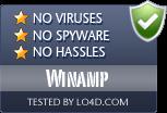 Winamp is free of viruses and malware.