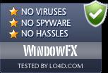 WindowFX is free of viruses and malware.