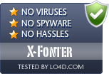 X-Fonter is free of viruses and malware.
