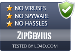 ZipGenius is free of viruses and malware.
