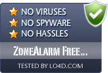 ZoneAlarm Free Firewall is free of viruses and malware.