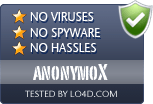 anonymoX is free of viruses and malware.