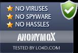 anonymoX is free of viruses and malware.