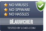 dLauncher is free of viruses and malware.