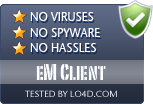 eM Client is free of viruses and malware.