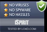 iSpirit is free of viruses and malware.